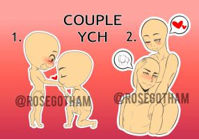 Cute Couples Ych Auction (CLOSED) by RoseGotham