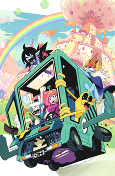 Adventure Time #46 variant cover art by Gashi-gashi