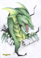 Green dragon by Dragarta