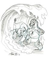 Simba and the Seal- Commission by tombancroft