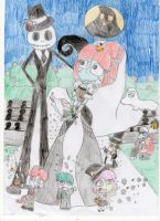 TNBC: The Wedding of the Pumpkin King and Queen by JennySaphireLeyla