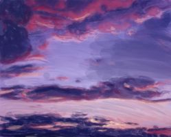 Sky Painting by Cwolf0615