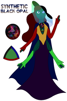 Gem Fusion: Synthetic Black Opal by aartisticTheatrics