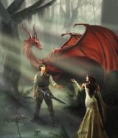 Richard, Kahlan, and Scarlet by SwordOfTruthClub