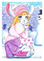 Snow Bunny by JupiterBlossem