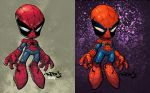 Little Spidey in colour by Red-J