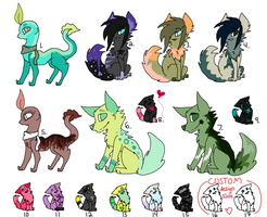 Adoptables -OPEN- by Peculiar-NomNom