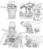 Rule of Rose Rubbish Bin and Bucket Knight Cosplay by xXPariahsXx