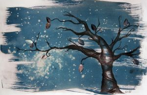 Cyanotype Tree II by nebulae-decay