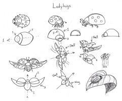 Draw Ladybugs by Diana-Huang