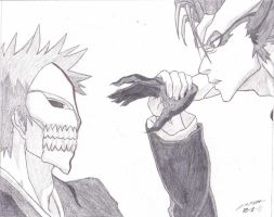 Ichigo vs Grimmjow by Caedus6685