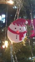 snowman ornament by ColleensCritters