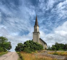 A church on the hill by Pajunen