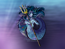 Fantasy Art Anime style Mermaid Hero by Tazmaa