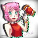 Amy Rose Pink Girl by heitor-jedi