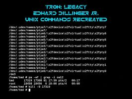 Tron Legacy Unix commands by Pencilshade