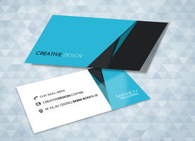 Card Business Blue and Black - Reference Behance by MandyLeite