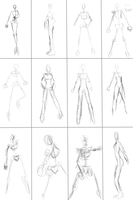 Free female human poses by SnowWolf10