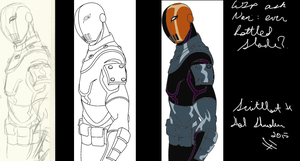 WIP ask Navi ever battled Deathstroke 2 by Scintillant-H