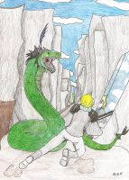 Training: The Snake Battle by AmaranthBlacktree
