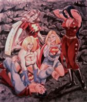THE GIRLS WITH SUPERMAN by MajorO