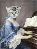 18th Century Keyboard Cat by viesify