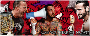 CM Punk - Can you hear me NOW!? (4 Picture Set) by Claine89