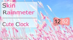 Skin for Rainmeter: Cute Clock by Tutoriales-Sochy