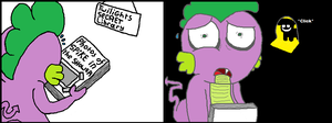 Spike finds a weird book by Spikandfrends
