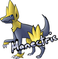 Day 4-Manectric by BlackMew13