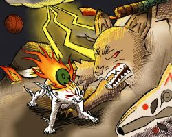 Amaterasu VS Ninetails by Panther85