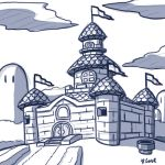 Peach's Castle sketch by rongs1234
