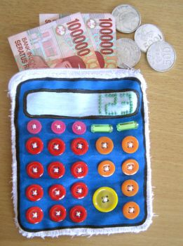 blue calculator pouch by sadisticima