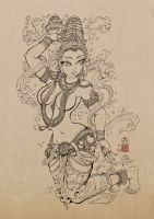 Mohini drawing by In-Sine