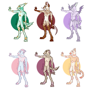 anthro adopts [2] (3/6 open!) by Ghost-Paladin