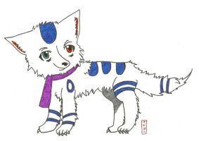 the white wolfs scarf by kitties-toothy-grin