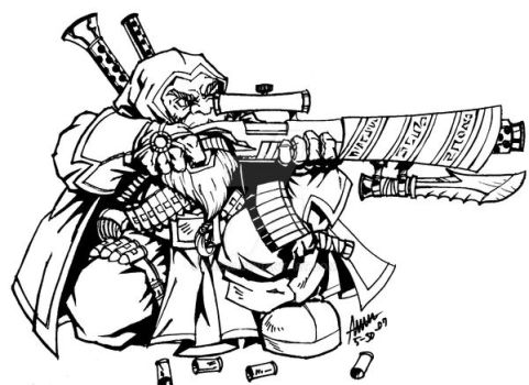 The Dwarven Sniper From DOTA by PAC23