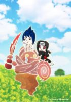 Itachi Sasuke in Wanderland by FrenzyVammi