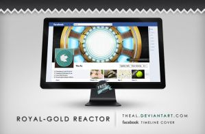 Royal-Gold Arc Reactor Timeline Cover by TheAL