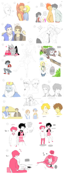 Adventure Time and others dump 2 by MiyajimaMizy