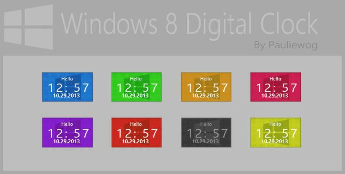 Windows 8 Digital Clock by pauliewog260
