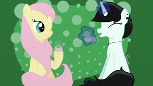Fluttershy and my sister. by Fannelle
