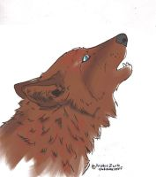Howling wolf pastel color by Chibiteretsu