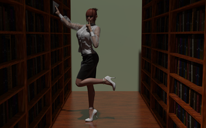 In the stacks with Pippa Penrose: Conspiracy by AmethystPendant
