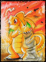 Dragonite by Kyuubreon