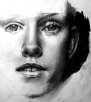 pencil portrait WIP by ViTong4