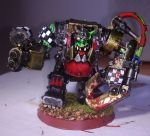 Ork warboss in mega armour by franarok
