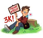 3K Thank You Twitter by LuigiL