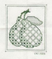 Blackwork Pears by gatchacaz