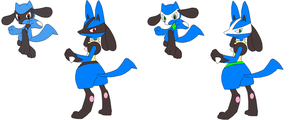 Riolu and Lucario by 1NarutoFreak